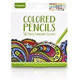 Crayola Colored Pencils, Pre-Sharpened, Adult Coloring, 50 Count