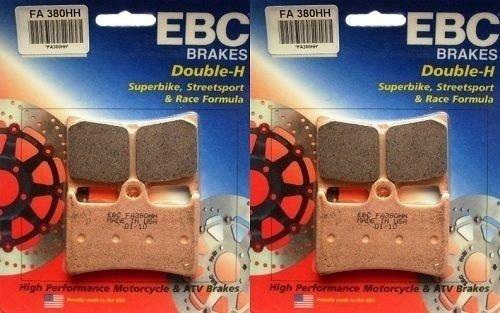 (EBC Sintered Double H Front Brake Pads (2 Sets) 2005-2013 Yamaha YZF-R6 / FA380HH )