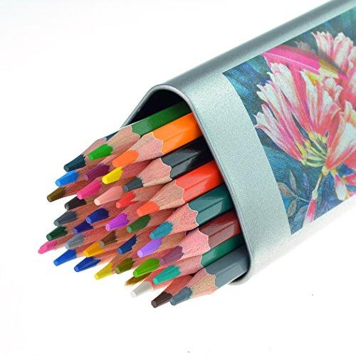 Ishua Pre Sharpened 36 Watercolor Pencils Drawing For Sketch Secret Garden Coloring Book