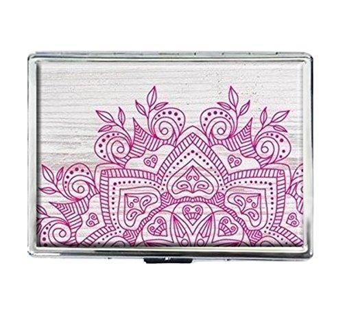 Wood White Boho Design Stainless Steel ID Cigarettes Case Holder covid 19 (Id Credit Card Cigarette Case coronavirus)