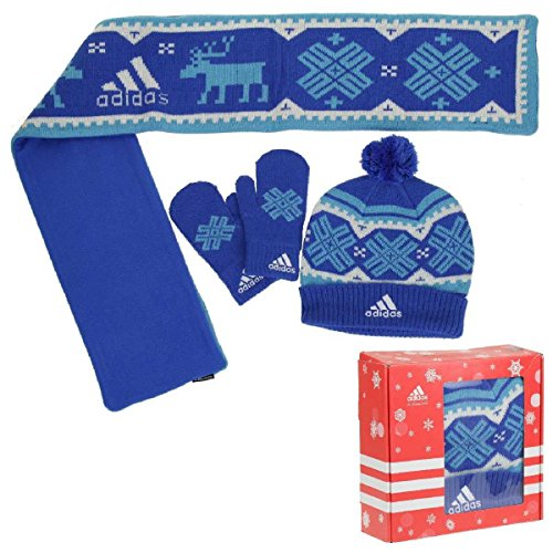 Adidas Gift Set Kids scarf, cap for boys blue
