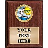 Raingutter Regatta Plaques - 5x7 Customized Raingutter Regatta Trophy Plaque