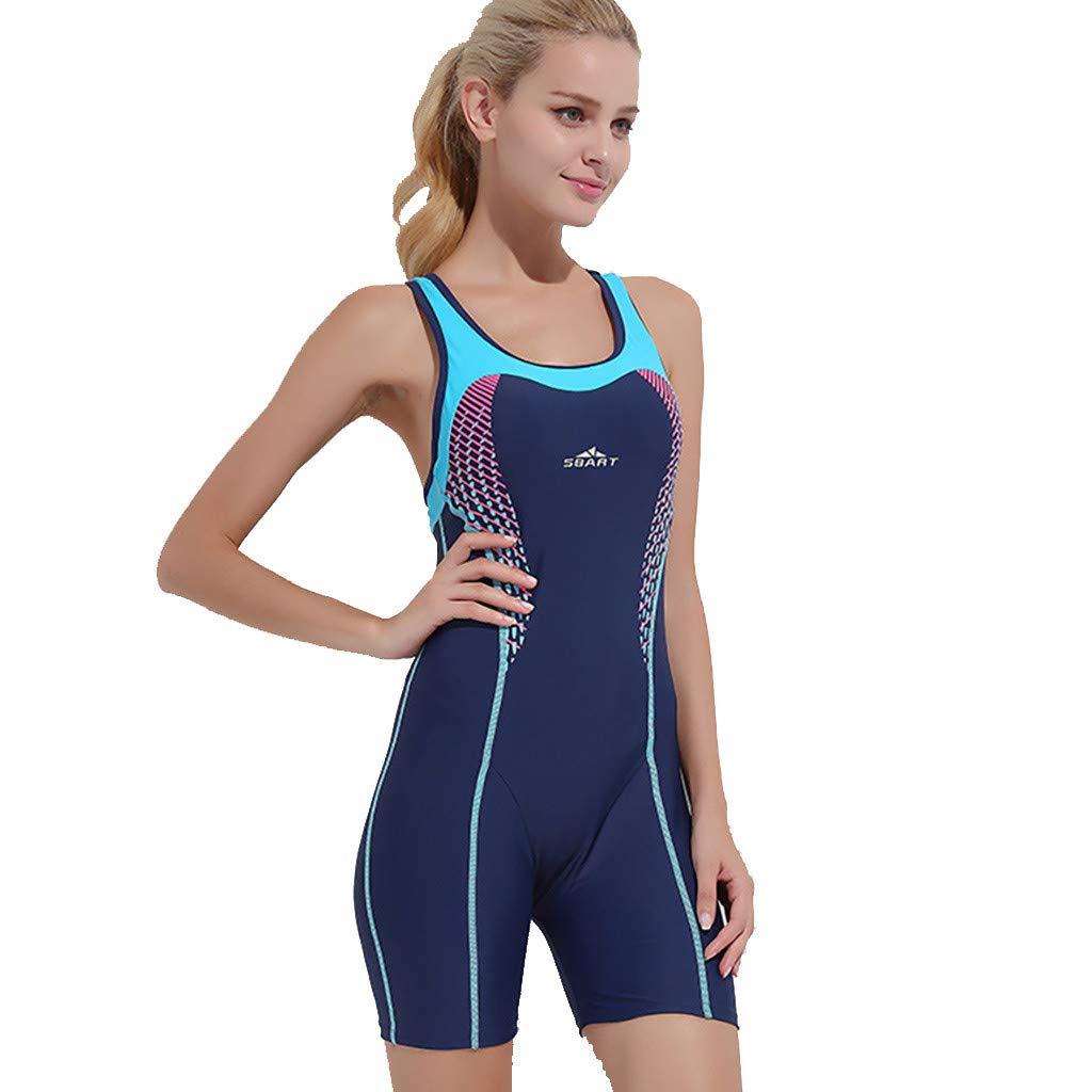 Women's One-Piece Snorkeling Surfing Swim Suit Sleeveless Plus Size Swimwear Sport Diving Suit Piece CapsA