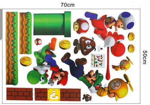 Eozy Decor Autocollants Muraux Amovibles Super Mario Bros Pour