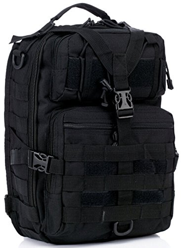 Army Surplus Wool Pants (Tactical Messenger Bag Single Strap Sling Style Backpack Medium Daypack Bag For Army Assault Bug Out Rucksack Outdoor Hiking Sport Camping Hiking Shooting Bag (Black))
