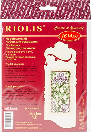 "RIOLIS Counted Cross Stitch Kit 2.25""X6.25""-Bookmark-Bloomin"