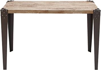 Amazon Com Deco 79 Metal Wood Console Table 42 X 16 X 30 Inch Brown Furniture Decor