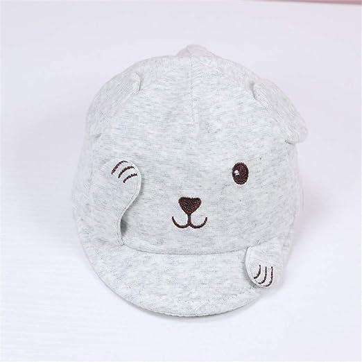 mlpnko Sombrero de bebé algodón niño niña Visera Gorra de béisbol Gorra de bebé Gris (34-42cm): Amazon.es: Hogar