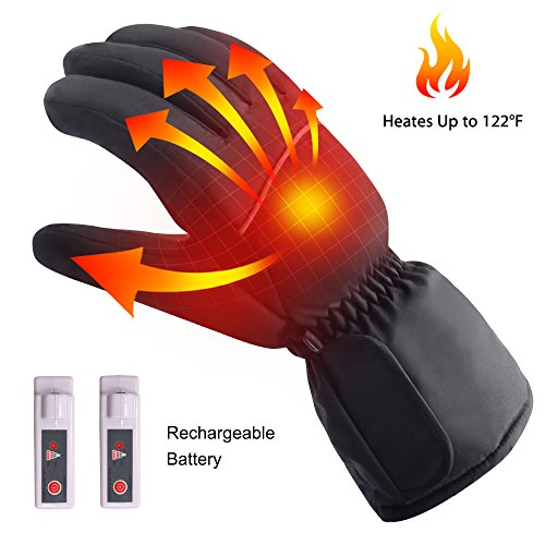 Touch Screen Texting Rechargeable Electric Heated Gloves for Men&Women,Sports&Outdoors Novelty Hand Warmer Glove Liners for Hiking Skiing Cycling,Winter Thermo-Gloves Electric Heated Gloves (Heated Glove Mens)