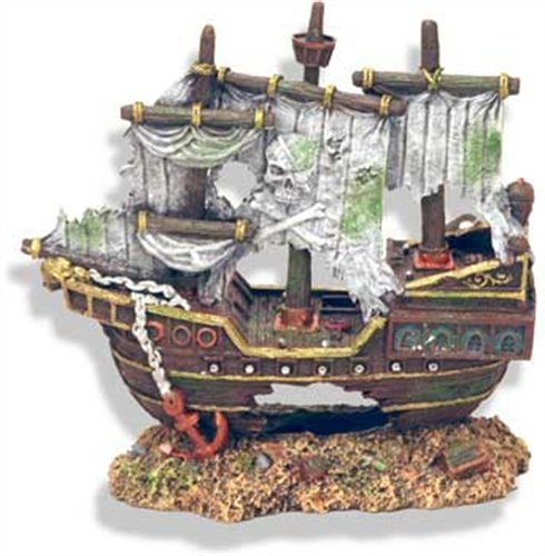 Exotic Environments Sunken Pirate Shipwreck - 8 x 4.5 x 8 inch