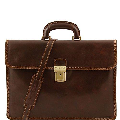8100184 - TUSCANY LEATHER: PARMA - Cartable en cuir, marron foncé