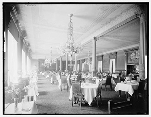 Vintography 16 x 20 Ready to Hang Canvas Wrap Main Dining Room Murray Hill Hotel 1902 Detriot Publishing - Murray Dining Hill