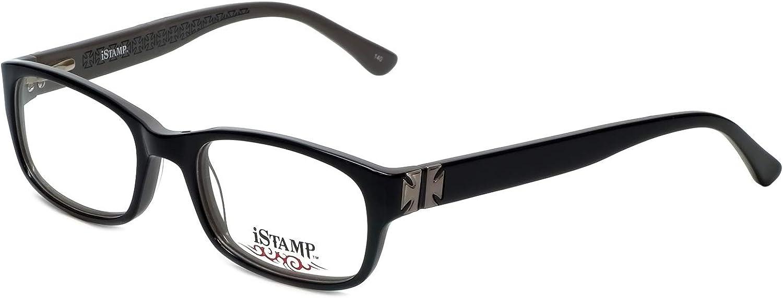Amazon.com: iStamp Designer Eyeglass Frame XP613Z-021 in Black 50mm:  Clothing