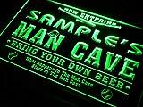 ADVPRO Name Personalized Custom Man Cave Baseball Bar Beer Neon Sign Green 12'' x 8.5'' st4s32-qb-tm-g
