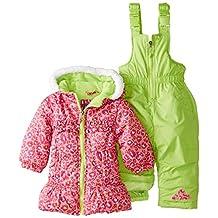 Pink Platinum baby-girls Baby All Over Cheetah Snowsuit