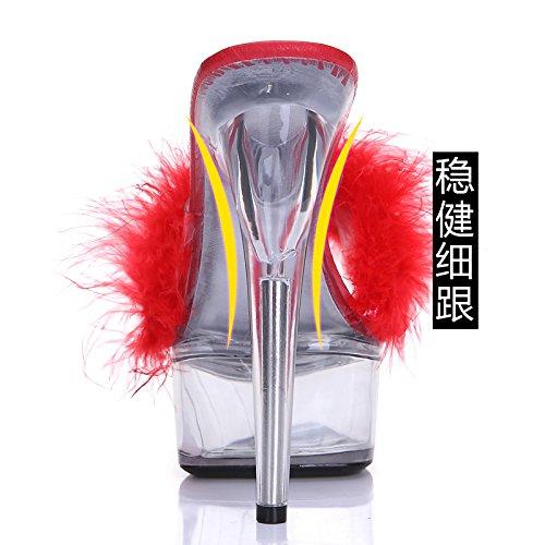 FLYRCX Sommer sexy Persönlichkeit High Heel Schuhe Sandalen Sandalen Sandalen transparent mode moderne Partei Schuhe Damen B07BDFPM2T Tanzschuhe Angemessene Lieferung und pünktliche Lieferung 60096e