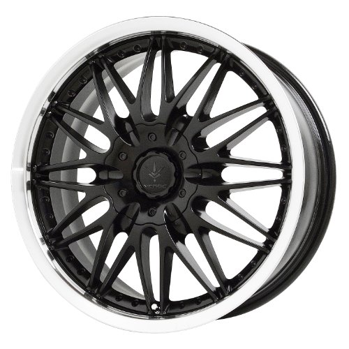 Verde Custom Wheels Regency Black Wheel Machined Lip (17×7.5″/5×115 mm)