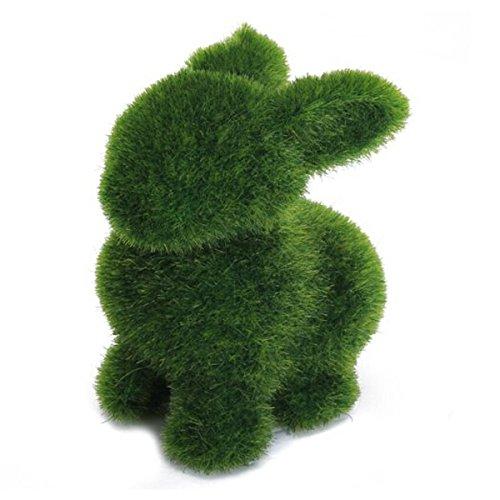 Tinksky Handmade Artificial Turf Grass Animal Rabbit Home Of