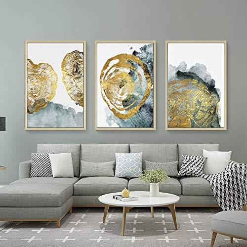jjshily Cuadro En Lienzo Ambiente Moderno Chino Clasico Ligero Hogar Moderno Triptico Abstracto Sala De Estar Pintura Decorativa Sin Marco-50X70