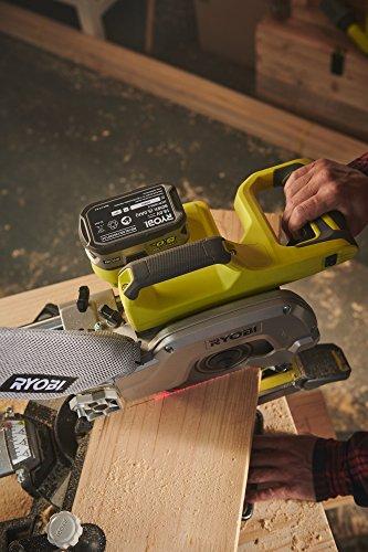 Ryobi R18MS216-0 One Plus Cordless Mitre Saw, 18 V, Hyper Green