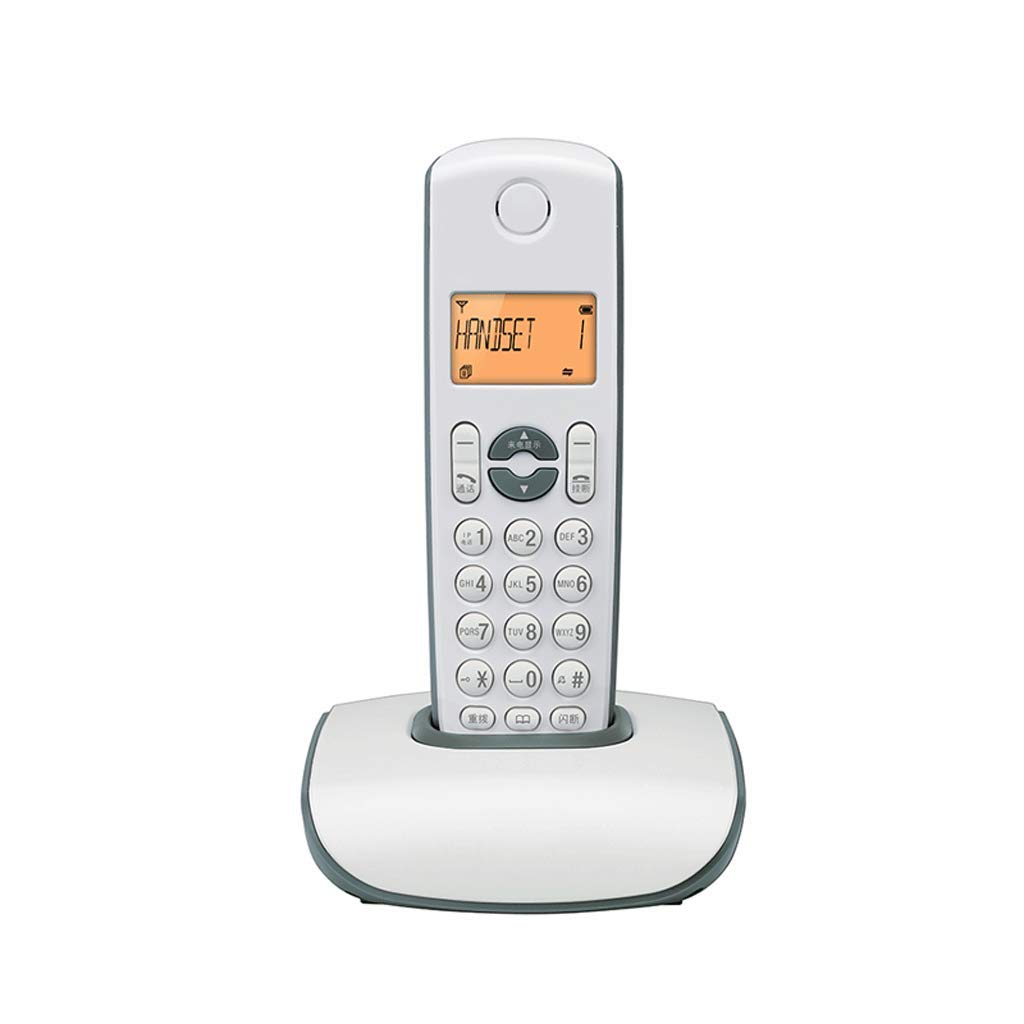 Vintage Telephone Fashion Digital Cordless Fixed Home Office Landline (Color : Blue) by CQH