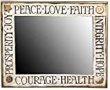 Peace Love Faith Hand Crafted Wall Mirror