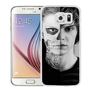 Evan Peters 2 WhiteHigh Quality Custom Samsung Galaxy S6 Protective Phone Case