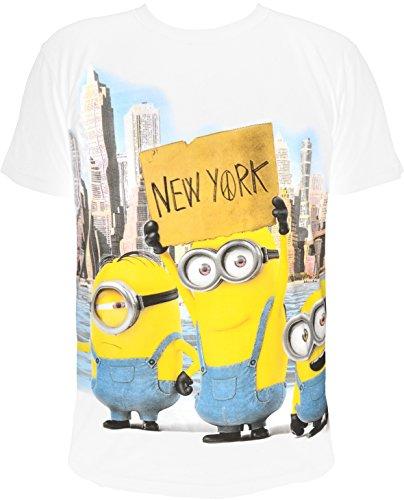 T-Shirt Minions New York, weiß (S)