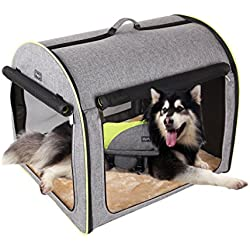 "Petsfit 35""x29""x30""(LxWxH) Inches Large Soft Portable Dog Crate/Cat Crate/Foldable Pet Kennel/Indoor Outdoor Pet Home For Large Dogs"