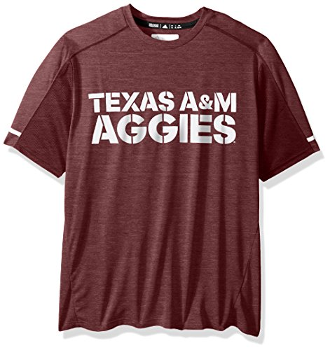 (adidas NCAA Texas A&M Aggies Adult Men NCAA Sideline Performance Tee, X-Large, Maroon)