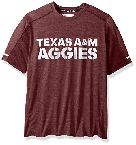 adidas NCAA Texas A&M Aggies Adult Men NCAA Sideline Performance Tee, X-Large, Maroon