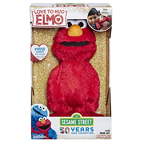 "Sesame Street Love to Hug Elmo Talking, Singing, Hugging 14"" Plush Toy for Toddlers, Kids 18 Months & Up from Sesame Street"