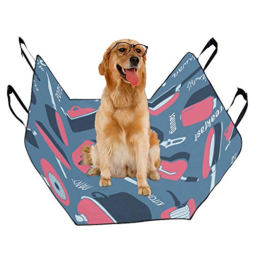 JTMOVING Fashion Oxford Pet Car Seat Wok Kitchen Creative Hand-Painted Waterproof Nonslip Canine Pet Dog Bed Hammock Convertible for Cars Trucks SUV ()