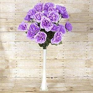 Efavormart 96 Giant Open Rose Bush Artificial Flowers for DIY Wedding Bouquets Centerpieces Arrangements Wholesale - Lavender 104