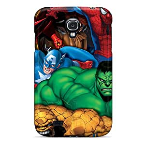 New Marvel Heroes Tpu Case Cover, Anti-scratch ShaCke Phone Case For Galaxy S4