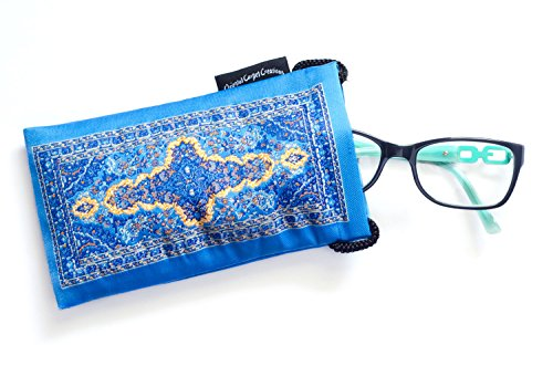 Eyeglass Case &/or Cell Phone Case - Oriental Carpet Woven Fabric - Kafkas Collection - Oriental Fabric Case