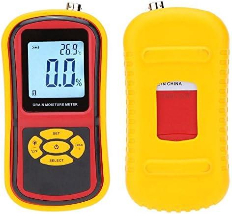 Portable Digital Grain Moisture Meter with Measuring Probe LCD Display Tester for Corn Wheat Rice Bean Wheat Hygrometer GM640