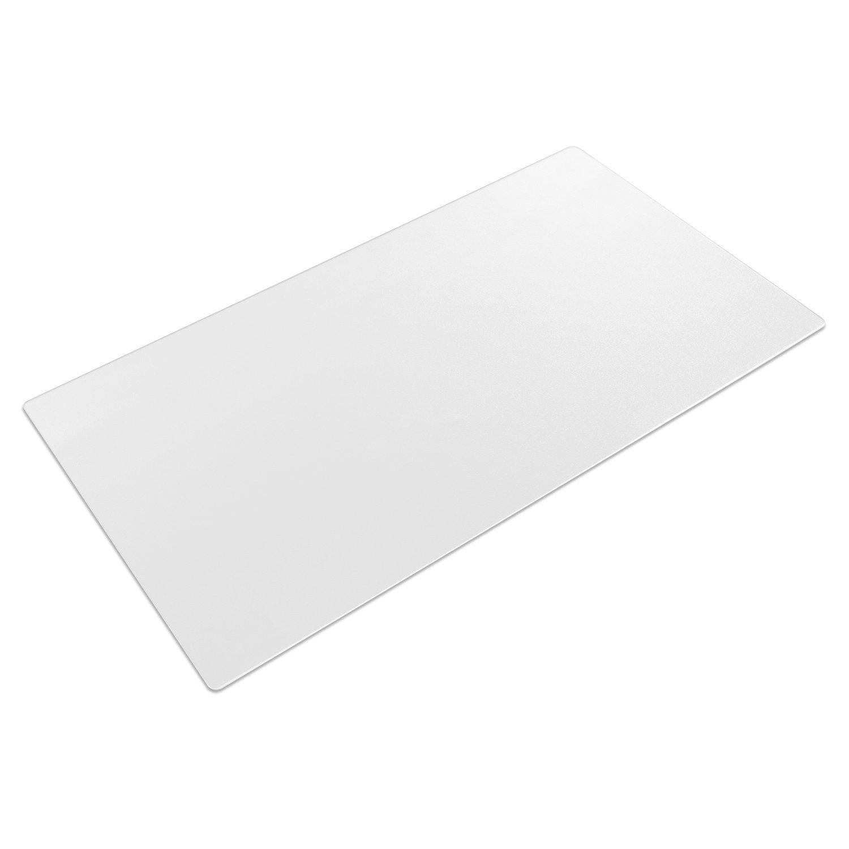 Desk Pad Clear, Fleeken Non-Slip PVC Soft Writing Mat - 34 x17 Inches Round Edges