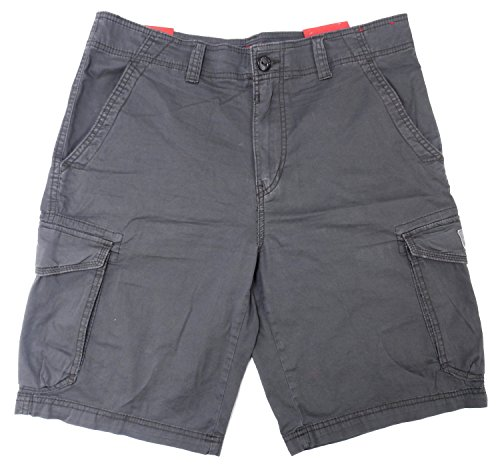 Union Bay Mens Size 34 Stretch Fabric Cargo Shorts, Flint