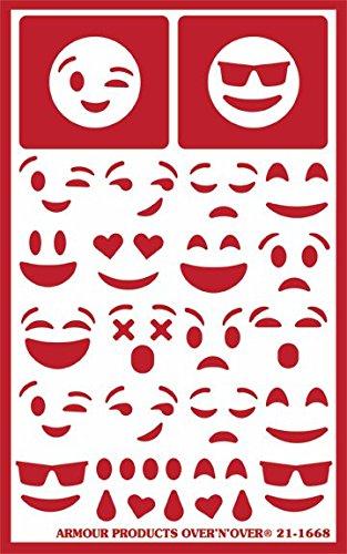 [해외]스텐실에 N 이상의 얼굴을 입히는 이모 지 (Armor Emoji)/Armour Emoji Faces Over N Over Stencil