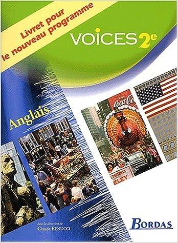 Livre Voices : Anglais, 2nde  (Livret) pdf