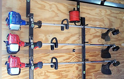 Enclosed Trailer - 3 Place Trimmer Rack for Enclosed Trailers by Pack'em Racks PK 6-5