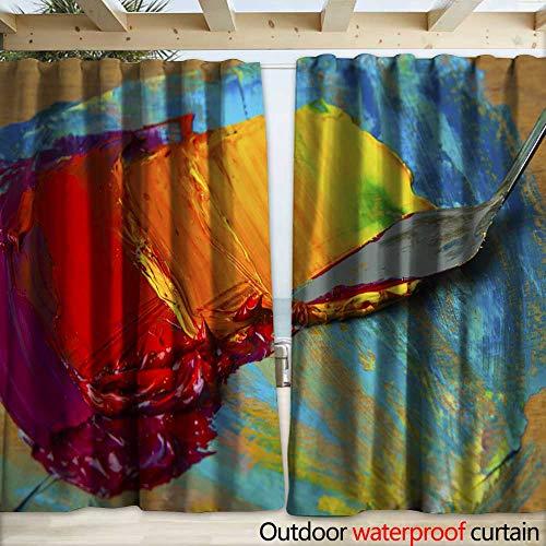 warmfamily Drape for Pergola Curtain Artists Palette - Stock Image Drapery W108 x L96 (Artists Magnet Palette)