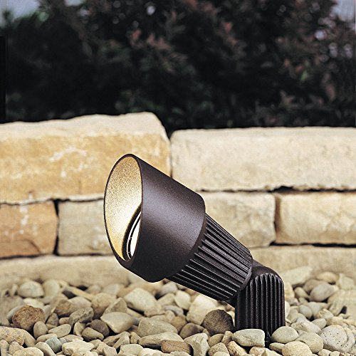 Kichler Lighting 15309AZT 12-Volt Low Voltage Accent Light with Heat Resistant Flat Glass Lens, Textured Architectural (Accent 12v Accent)