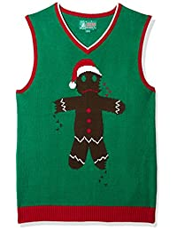 Ugly Christmas Sweater The Kit Men's Gingerbread Man Vest