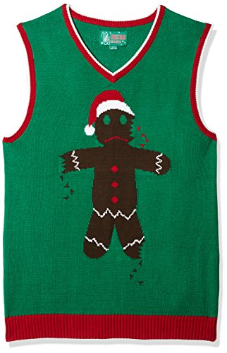 Ugly Christmas Sweater Men's Ginger Vest, Emerald, for sale  Delivered anywhere in USA
