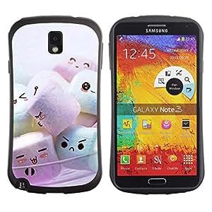 Fuerte Suave TPU GEL Caso Carcasa de Protección Funda para Samsung Note 3 N9000 N9002 N9005 / Business Style Cute Marshmellow Friends