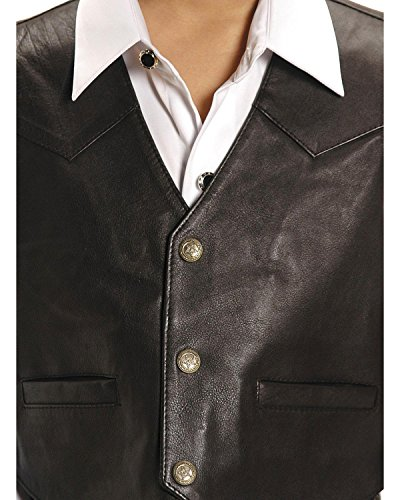 Roper Boys' Lambskin Leather Vest Brown Large by Roper (Image #1)