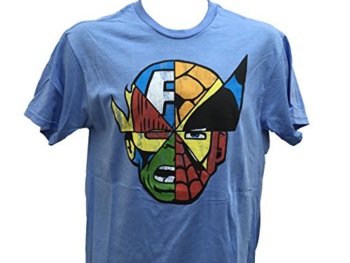 Marvel+Comics+Retro+Shirt Products : Marvel Men's Comics Wolverine Iron Man Cpt. America Hulk Spiderman Thing T Shirt S-2XL
