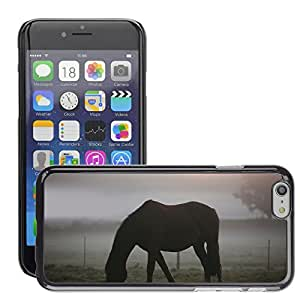Hot Style Cell Phone PC Hard Case Cover // M00046305 animals nature horse horses foggy // Apple iPhone 6 PLUS 5.5